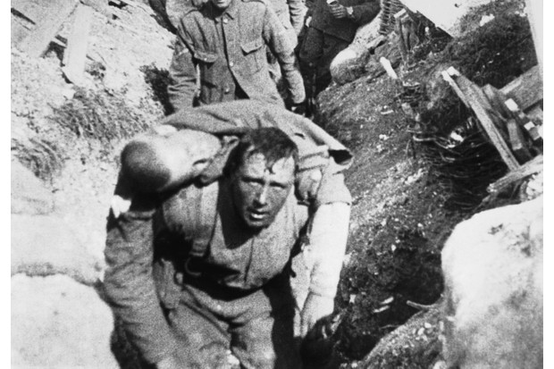 Soldiers at the battle of the Somme in the First World War
