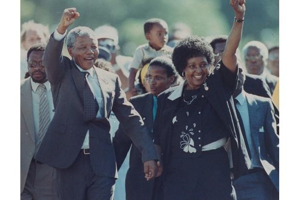 Nelson R Mandela and Winnie Mandela