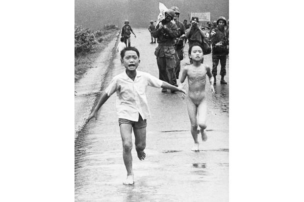 Children fleeing an accidental napalm attack during the Vietnam War
