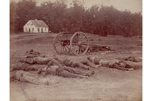 Photograph of dead Confederate soldiers