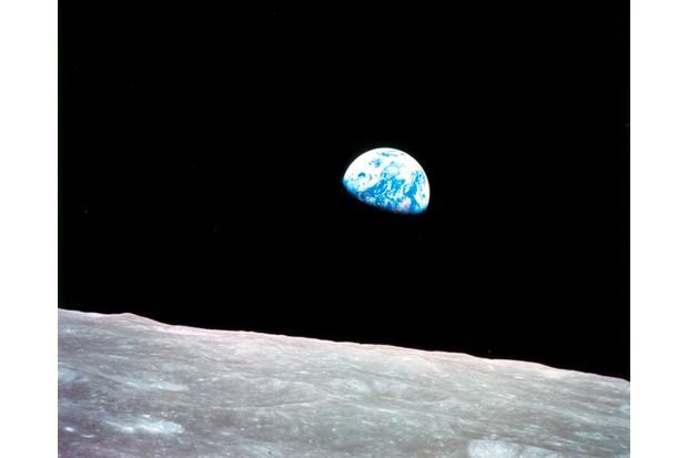 Earthrise seen from Apollo 8, 29 December 1968.