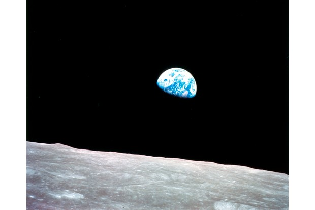 Earthrise seen from Apollo 8, 29 December 1968.