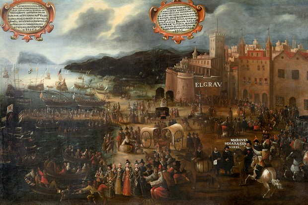 A painting of 1616 depicts the Moriscos boarding ships to sail from the port of Valencia