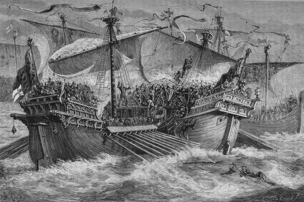 The battle of Dover, 24 August 1217, (image c1880). (Photo by Print Collector/Getty Images)