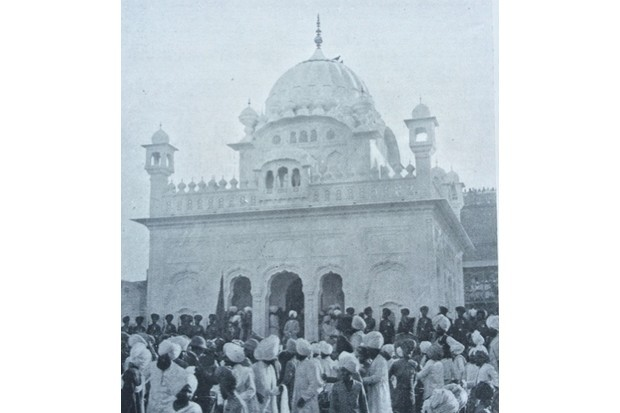 The unveiling of the Saragarhi memorial at Amritsar in 1902. (Credit DHP)
