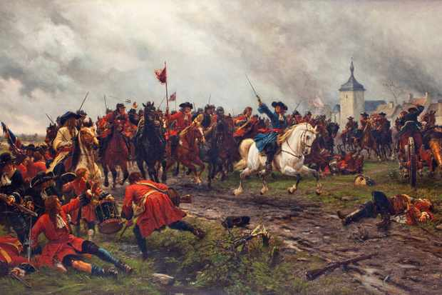 William of Orange at the battle of the Boyne