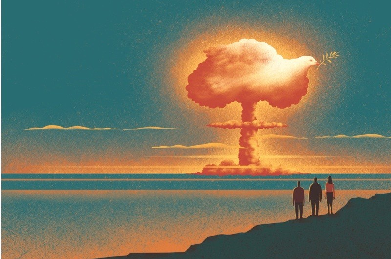 Have nuclear weapons helped to maintain global peace?