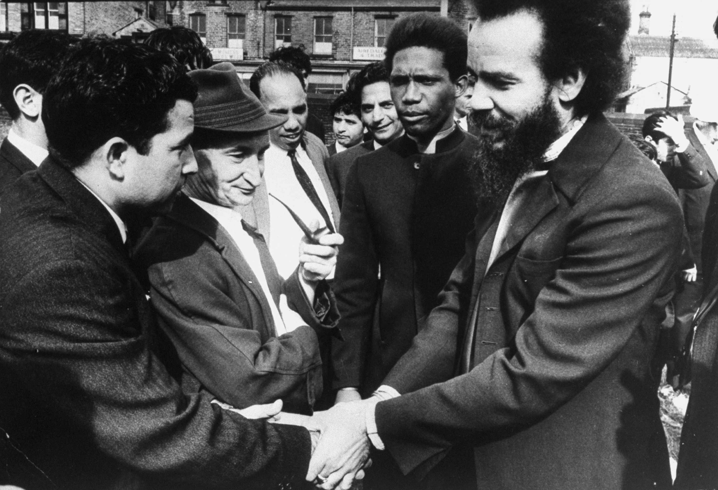 Michael X, (right, foreground) black power advocate, in Hyde Park. (Photo by Terence Spencer/The LIFE Picture Collection/Getty Images)
