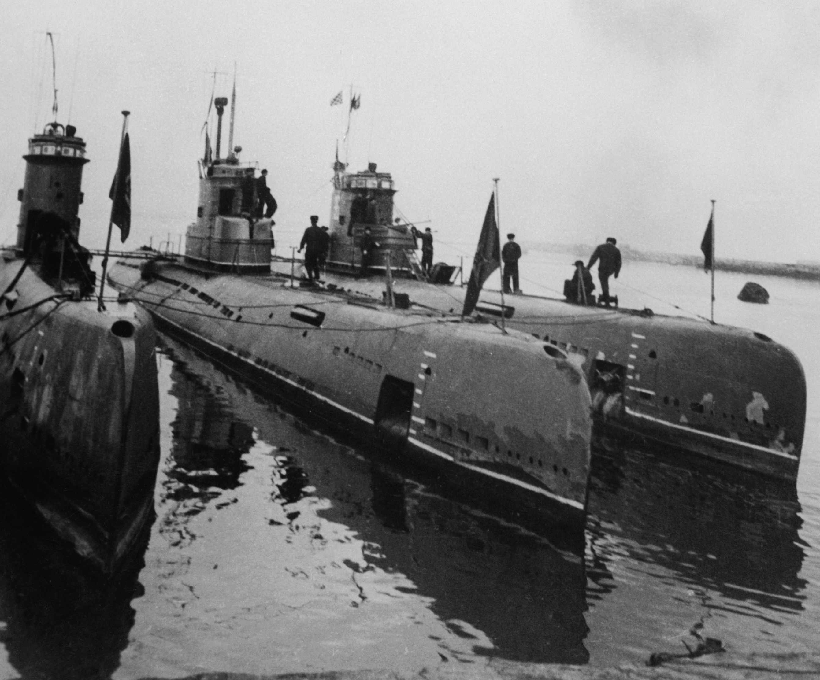 Soviet submarines. (Bettmann via Getty Images)