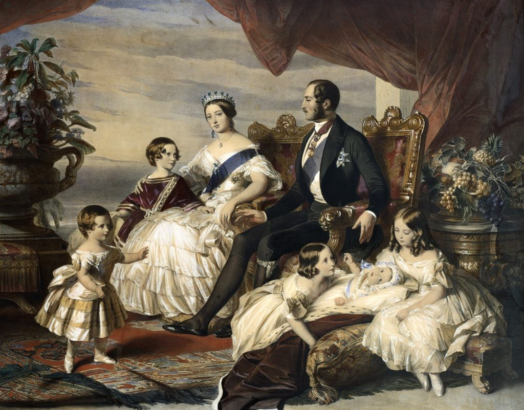 A portrait of Queen Victoria and Prince Albert with five of their nine children, by Frederick Winterhalter. (Photo by © Historical Picture Archive/CORBIS/Corbis via Getty Images)