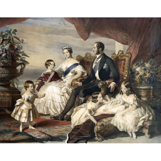 A portrait of Queen Victoria and Prince Albert with five of their children, by Frederick Winterhalter. (Photo by © Historical Picture Archive/CORBIS/Corbis via Getty Images)
