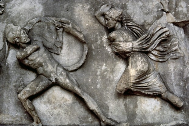 The warrior women who battled Hercules and courted Alexander the Great were the stuff of legend – yet, as John Man reveals, the myth's artistic and social impact is still palpable today. (Photo by: PHAS/Universal Images Group via Getty Images)