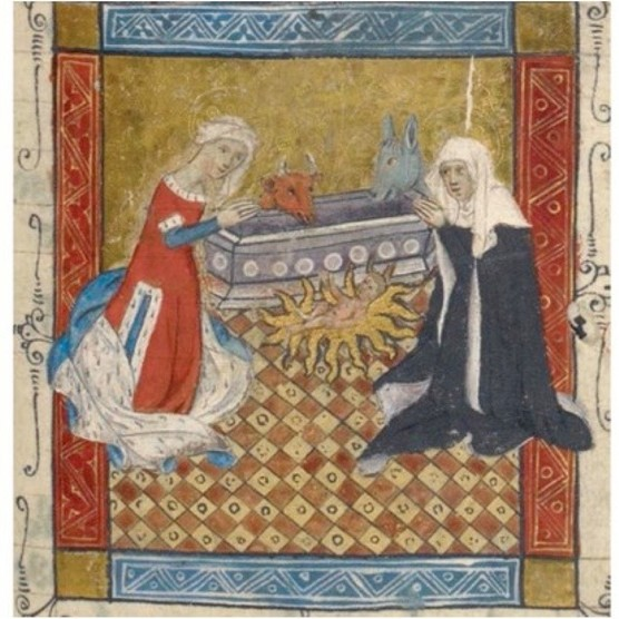 Saint Bridget of Sweden with the Virgin Mary and Christ, c1410–20. (©British Library)