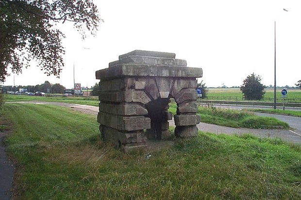 Inside the fort was a famous spring, St Helen's Well, today Robin Hood's Well. (© Bill Henderson)