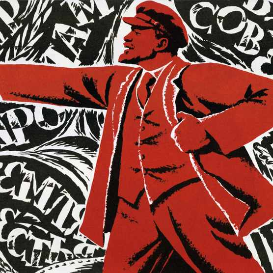 Vladimir Ilyich Lenin, depicted in an undated Communist poster. (Photo by Universal History Archive/Getty Images)