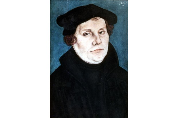A c1532 painting of Martin Luther. (Photo by Photo12/UIG/Getty Images)