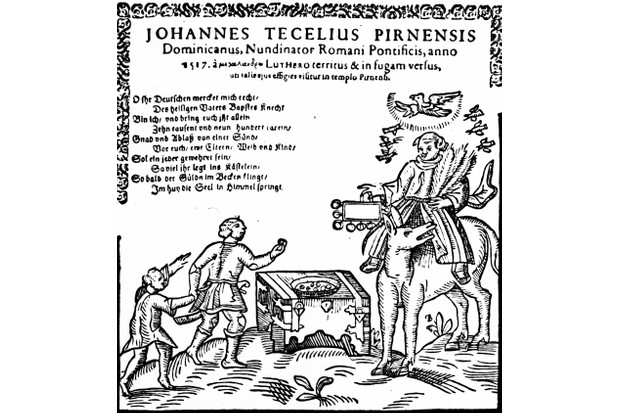 The cover of a pamphlet of Martin Luther's 1520 tract 'To the Christian Nobility of the German Nation'. (Photo by ullstein bild/ullstein bild via Getty Images)