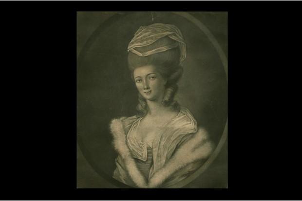 Painting of flamboyant 18th century women's hair