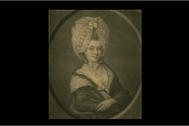 Painting of a flamboyant woman's hair