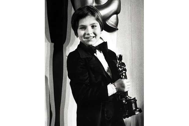 Tatum O'Neal, with her Academy Award for Best Supporting Actress, in 1974. (Ron Galella/WireImage)