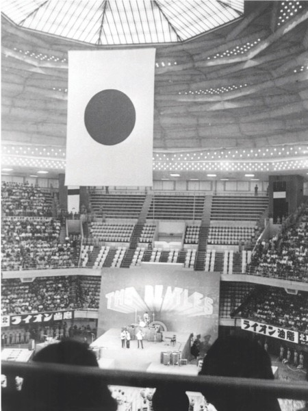 Japan's holy ground: Overcoming powerful opposition from the establishment, the Beatles perform at Tokyo's Budokan hall in early July 1966. (Topfoto)