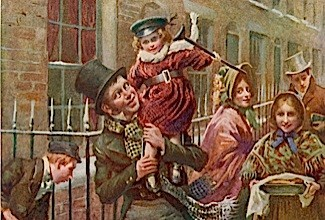 A Dickensian Christmas. (© Alamy/Mary Evans)
