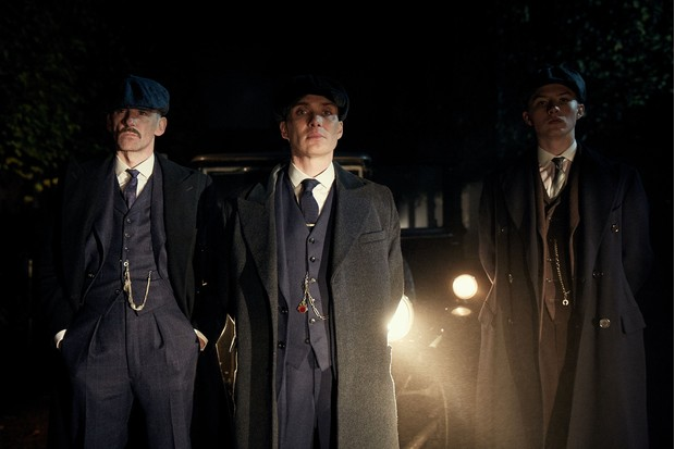 WARNING: Embargoed for publication until 00:00:01 on 26/04/2016 - Programme Name: Peaky Blinders 3 - TX: n/a - Episode: Peaky Blinders III Ep1 (No. 1) - Picture Shows:  Arthur Shelby (Paul Anderson), Thomas Shelby (Cillian Murphy), Finn Shelby (Harry Kirton) - (C) Caryn Mandabach Productions Ltd & Tiger Aspect Productions Ltd 2016 - Photographer: Robert Viglasky