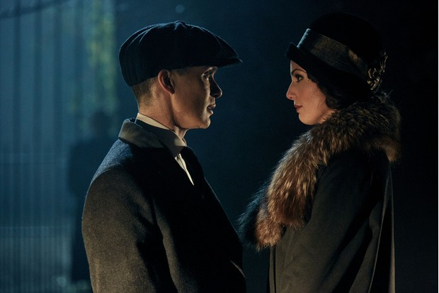 WARNING: Embargoed for publication until 00:00:01 on 26/04/2016 - Programme Name: Peaky Blinders 3 - TX: n/a - Episode: Peaky Blinders III Ep1 (No. 1) - Picture Shows:  Thomas Shelby (Cillian Murphy), Duchess Tatania Petrovna (Gaite Jansen) - (C) Caryn Mandabach Productions Ltd & Tiger Aspect Productions Ltd 2016 - Photographer: Robert Viglasky