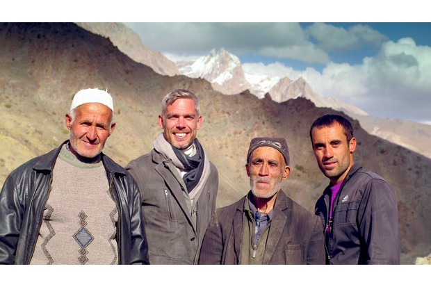 Programme Name: The Silk Road - TX: n/a - Episode: n/a (No. 2) - Picture Shows: with Yaghnob family Dr Sam Willis - (C) BBC - Photographer: Alastair McCormick