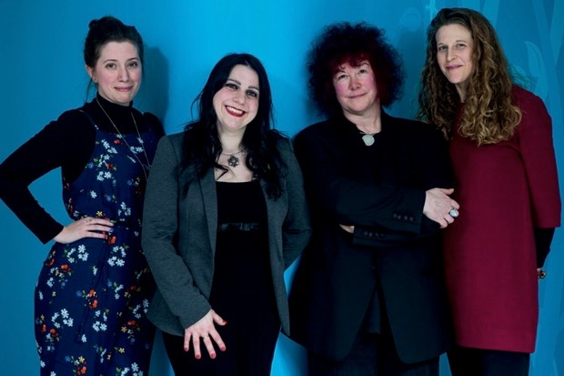 From left: Fern Riddell, a cultural historian specialising in sex and suffrage; Janina Ramirez, a broadcaster and historian based at the University of Oxford; Joann Fletcher, a broadcaster and writer, and an Egyptologist at the University of York; Anna Whitelock, a historian of royal and early modern history, based at Royal Holloway, University of London. (Photography by Helen Atkinson)