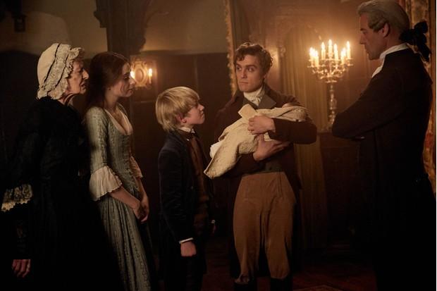 The Warleggan family in 'Poldark'. (Image Credit: BBC/Mammoth Screen/Robert Viglasky)
