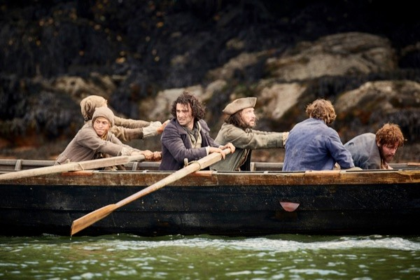 Ross Poldark and friends sail to France to rescue Dwight from imprisonment. (BBC/Mammoth Screen/Robert Viglasky)