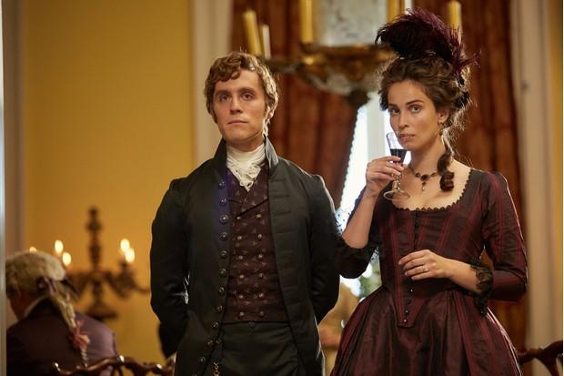 George and Elizabeth Warleggan. (Image Credit: BBC/Mammoth Screen/Robert Viglasky)