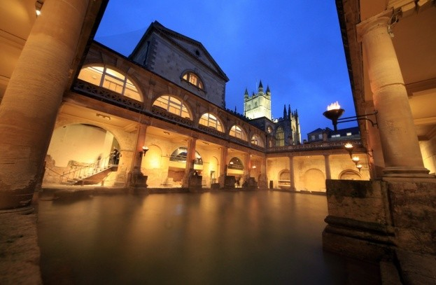 The Great Bath in the Roman Baths. (Photo by Matt Cardy/Getty Images)