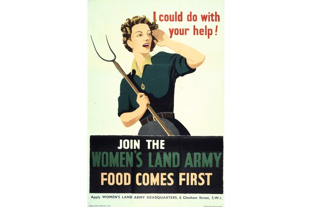 The Women's Land Army helped grow food for the nation. (The National Archives/SSPL/Getty Images)