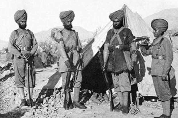 Four soliders of the 36th Sikhs, various ranks, 1896. The regiment was led in January 1897 to occupy the Samana posts, says Captain Jay Singh-Sohal. (Reproduced with permission from australiansikhheritage.com)