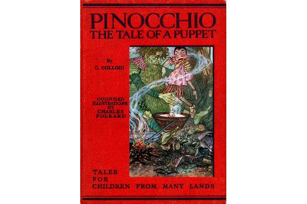 'Pinocchio: the Tale of a Puppet'' by C Collodi with coloured illustrations by Charles Folkard, 1914. (Photo by Culture Club/Getty Images)