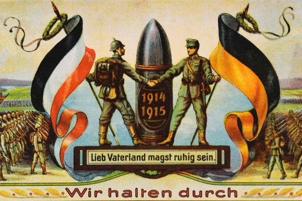 A colour illustration of First World War allies, the German Reich and  Austria-Hungary ebee08efb1