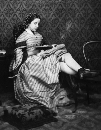 20A20Victorian20girl20reads20a20book2C20her20skirts20hitched20up20to20show20her20thick2C20knee20length20stockings_1_0-c7ad9fe