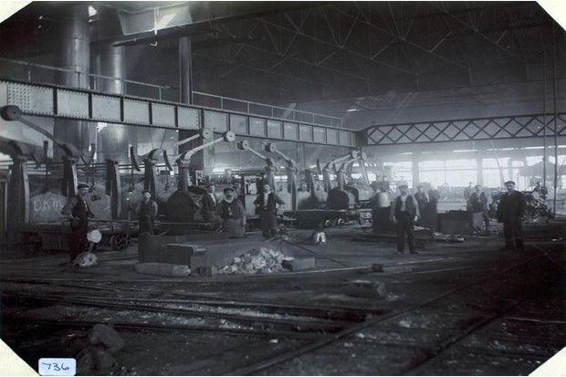 A historical image from the iron and steel industry in Teeside