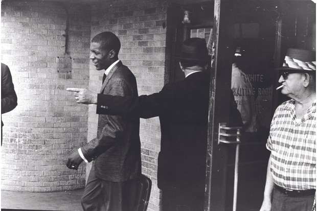 A 'freedom rider' is told to leave a 'white' waiting room in Jackson, Mississippi, 1961. (Hulton Archive)