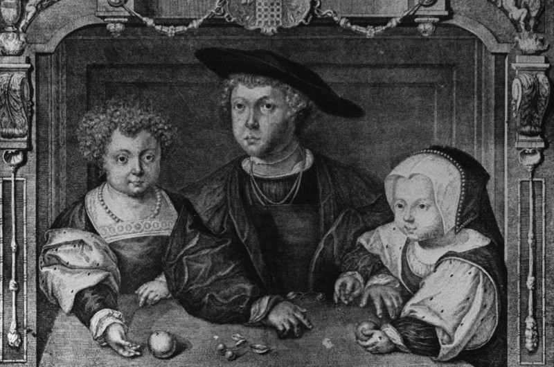 A portrait of three of the children of Henry VII: Prince Henry; Arthur Prince of Wales and Princess Margaret. (Photo by Hulton Archive/Getty Images)