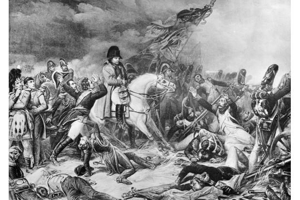 Napoleon's retreat from the battle of Waterloo. Original artwork after a painting by Steuben. (Photo by Hulton Archive/Getty Images)