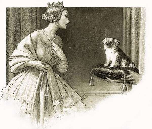 Queen Victoria and her dog Looty. (© Look and Learn/Bridgeman Art Library)