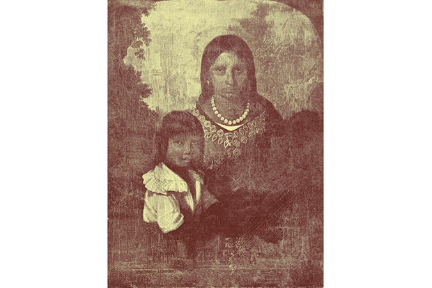 The Sedgeford Portrait, which is said to show Pocahontas and her young son, Thomas. (Photo by Getty)