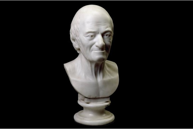 A sculpted bust of Voltaire