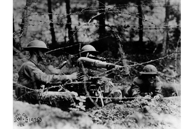 American soldiers manning a French '37'
