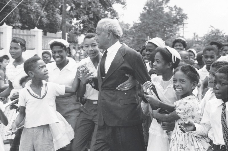 Jamaican statesman Norman Manley pictured in August 1962, the month in which the country gained independence. (© Getty)