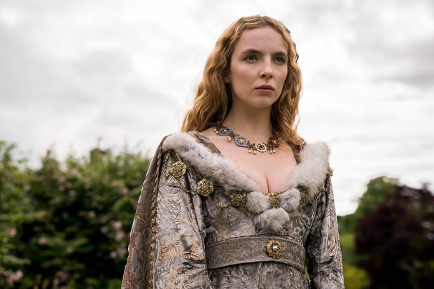 Jodie Comer as Elizabeth of York in The White Princess. (© Starz)