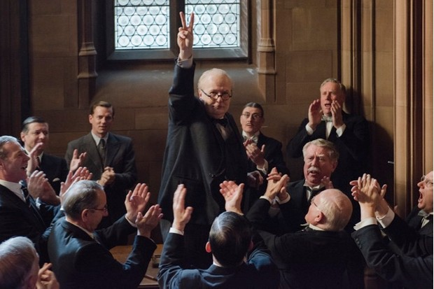 Gary Oldman portrays Winson Churchill in 'Darkest Hour
